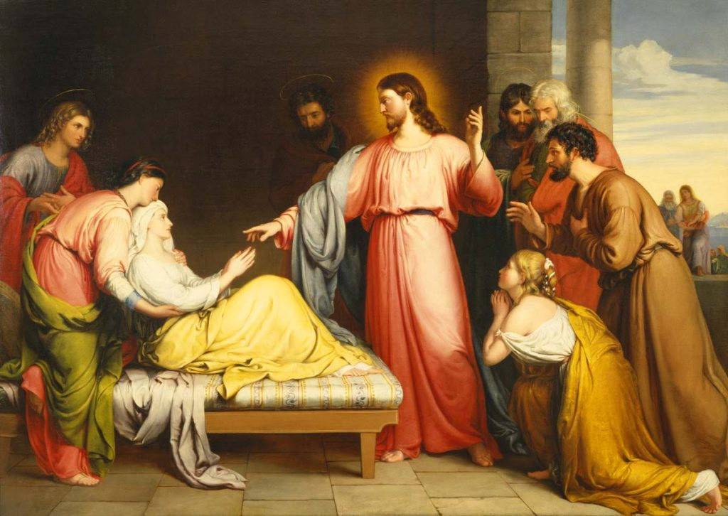 Christ Healing the Mother of Simon Peter's Wife by John Bridges, 1839