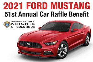 2021 Mustang car raffle inset