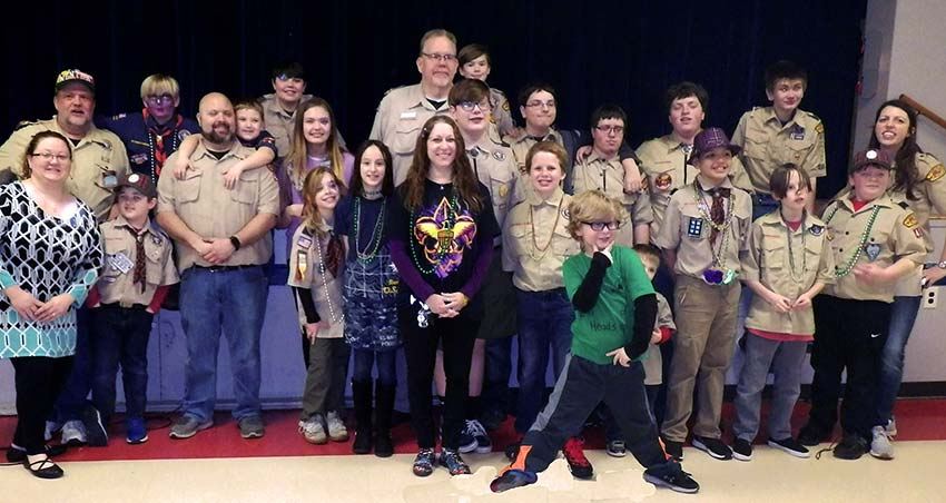 Boy Scouts Troop 414 Feb. 2020